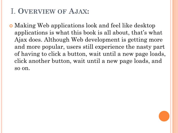 I overview of ajax