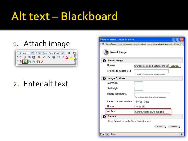 Alt text – Blackboard