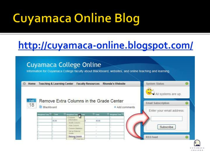 Cuyamaca Online Blog