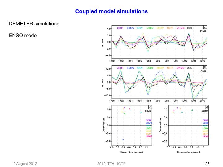 Coupled model simulations