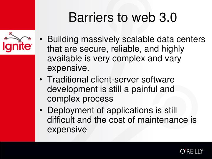 Barriers to web 3.0