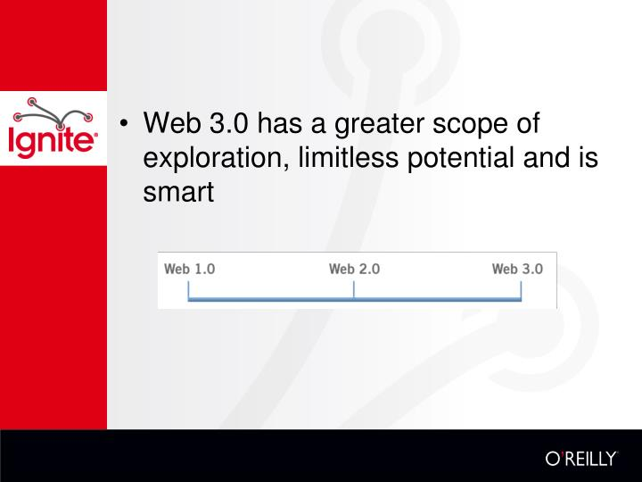 Web 3.0 has a greater scope of exploration, limitless potential and is smart