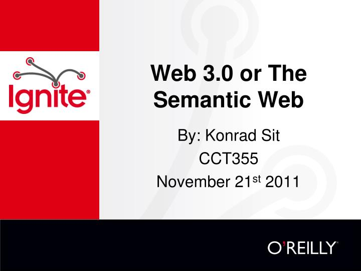 Web 3 0 or the semantic web