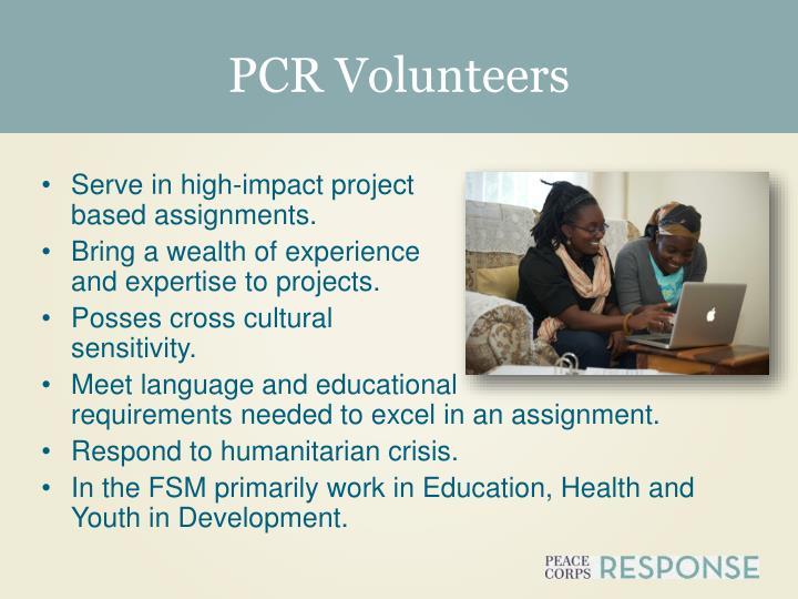 PCR Volunteers