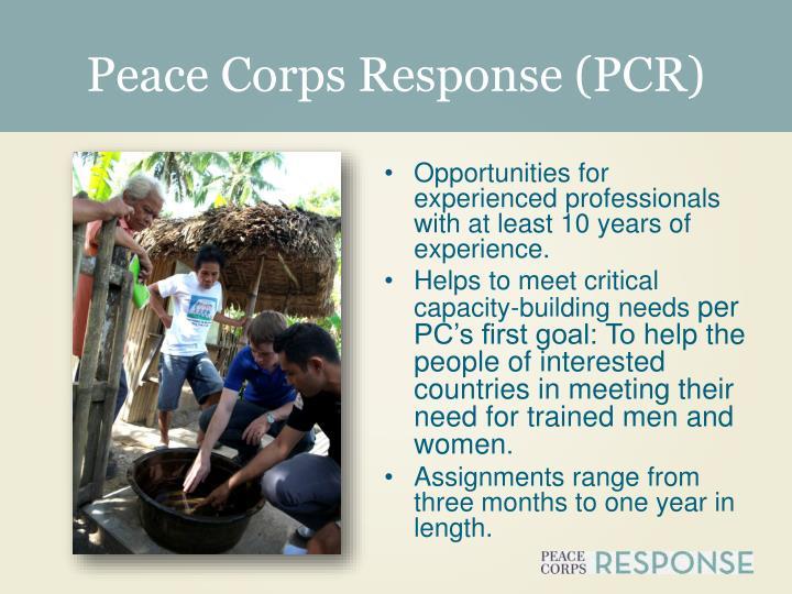 Peace Corps Response (PCR)