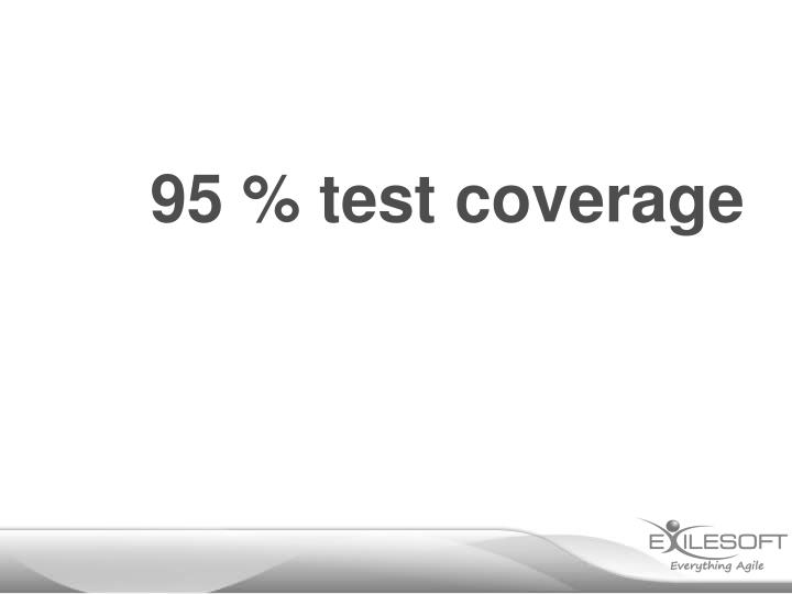 95 % test coverage