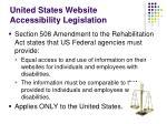 united states website accessibility legislation