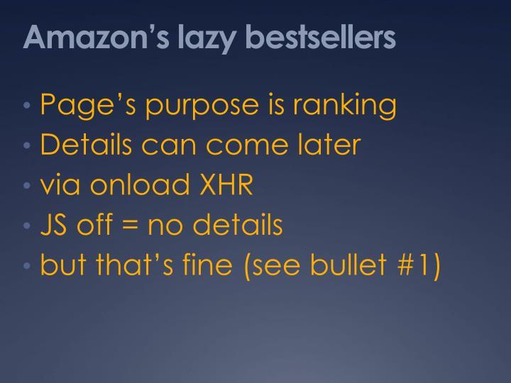 Amazon's lazy bestsellers