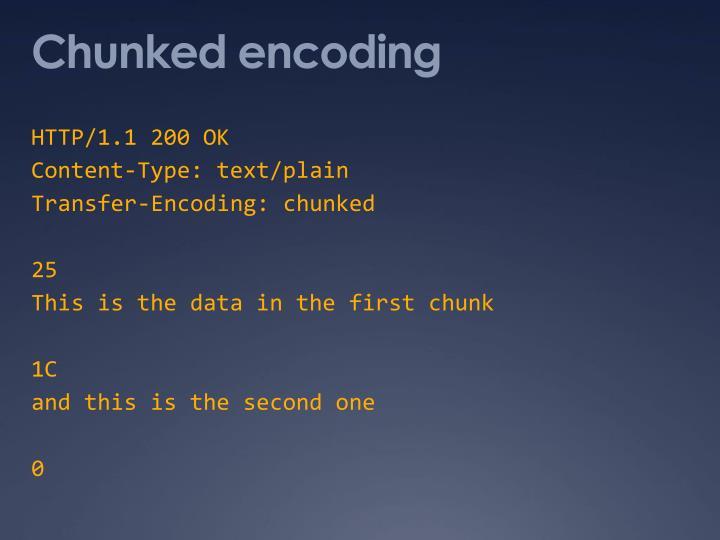 Chunked encoding