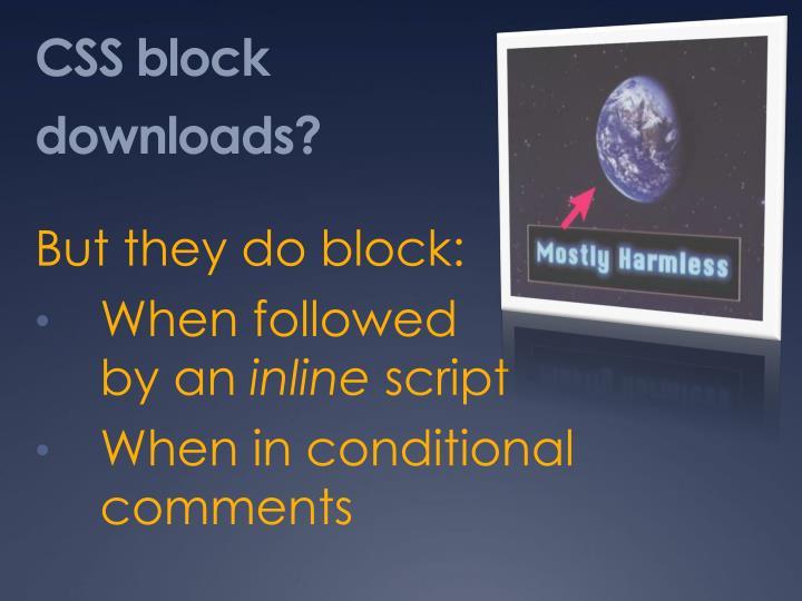 CSS block