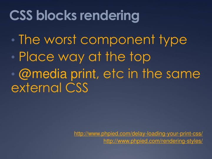 CSS blocks rendering