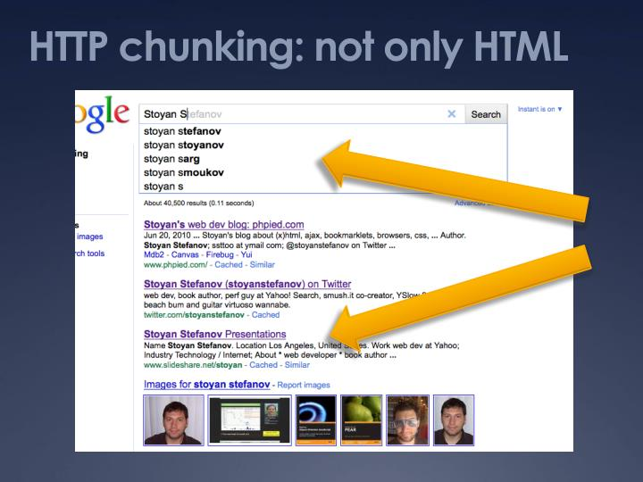 HTTP chunking: not only HTML