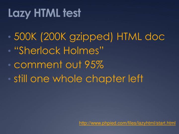 Lazy HTML test