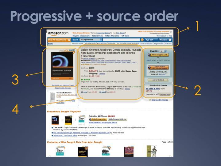 Progressive + source order