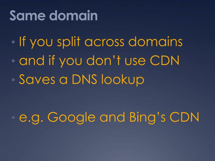 Same domain