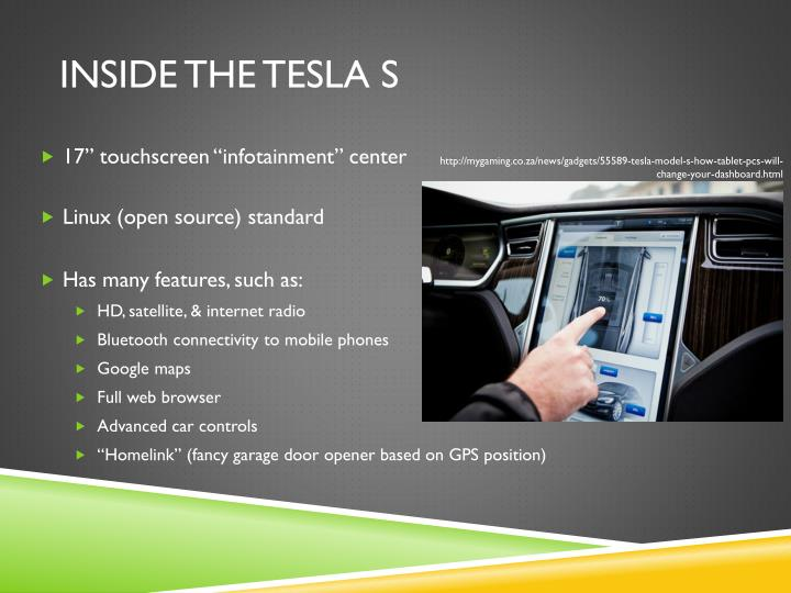 Inside the Tesla s