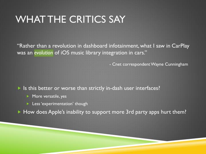 What the critics say