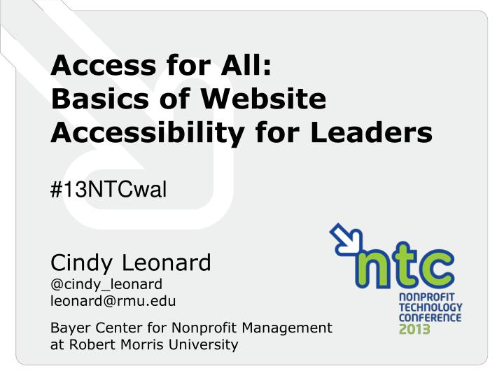 Access for All: