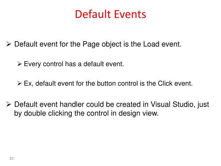 Default Events