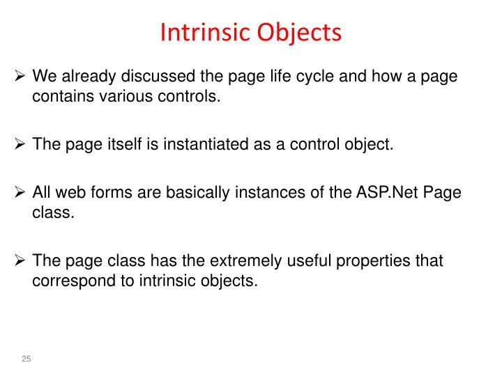 Intrinsic Objects