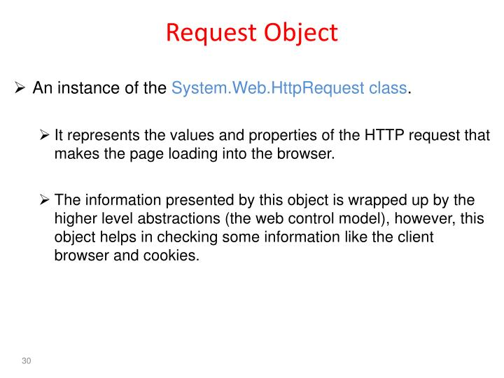 Request Object