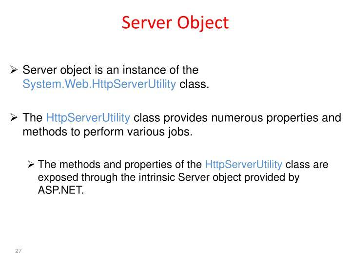 Server Object