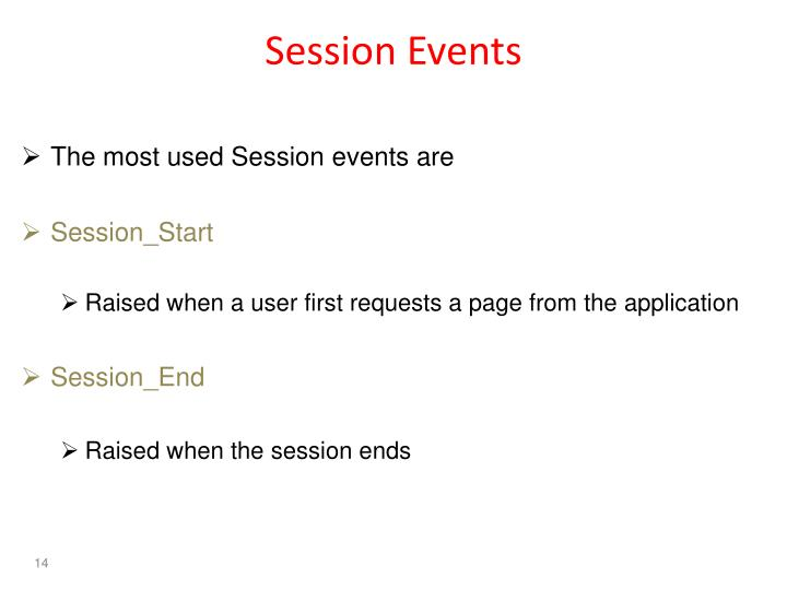 Session Events