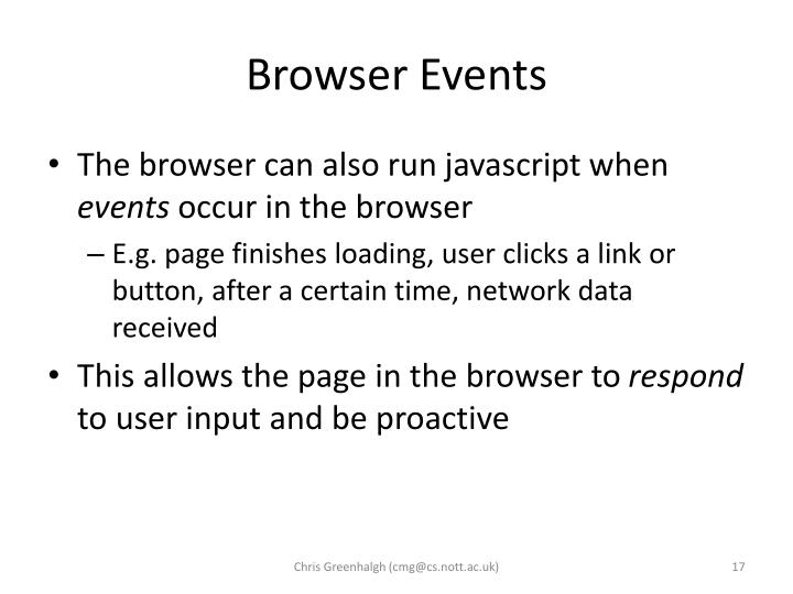 Browser Events
