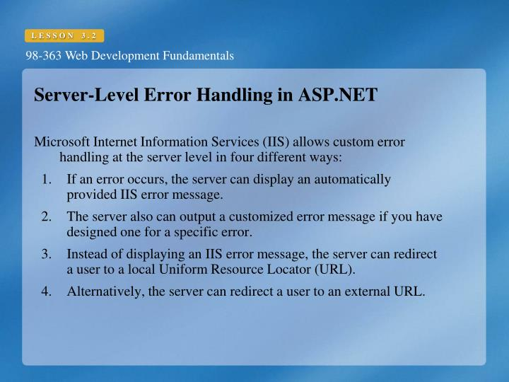 Server-Level Error Handling in ASP.NET