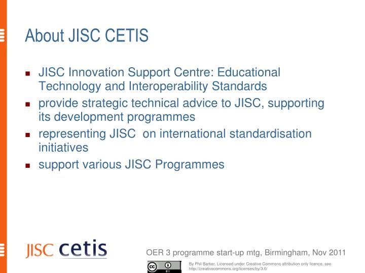 About JISC CETIS