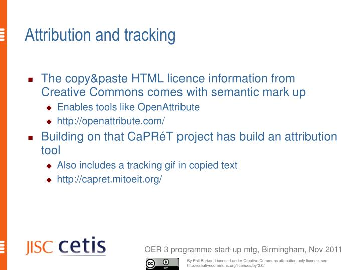 Attribution and tracking