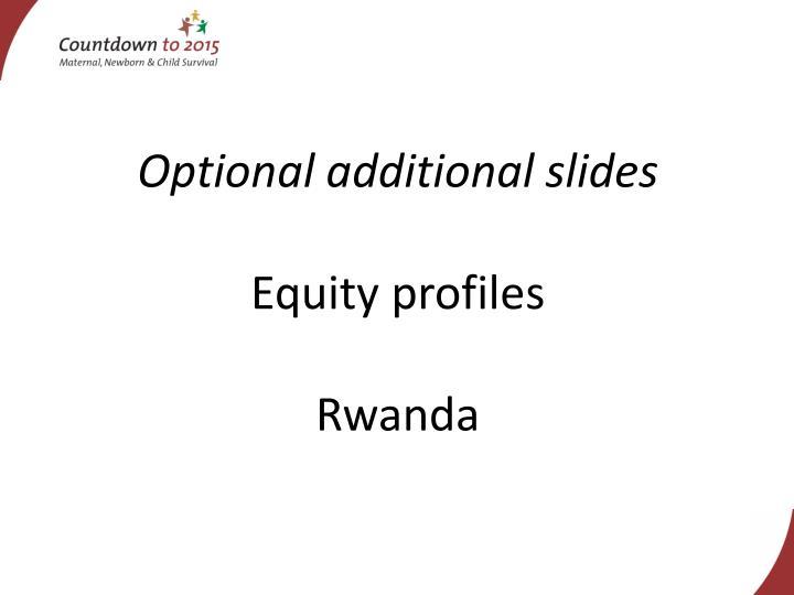 Optional additional slides