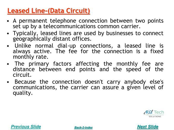 Leased Line-(Data Circuit)