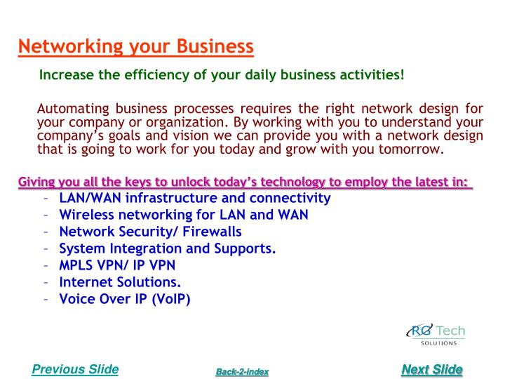 Networking your Business