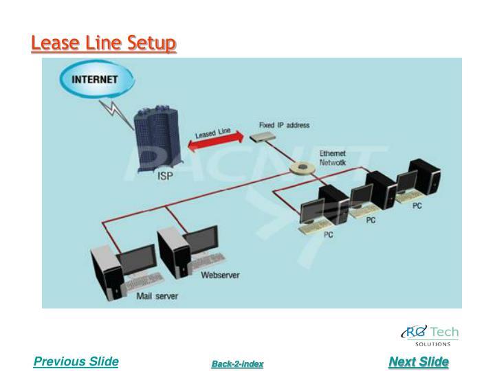 Lease Line Setup