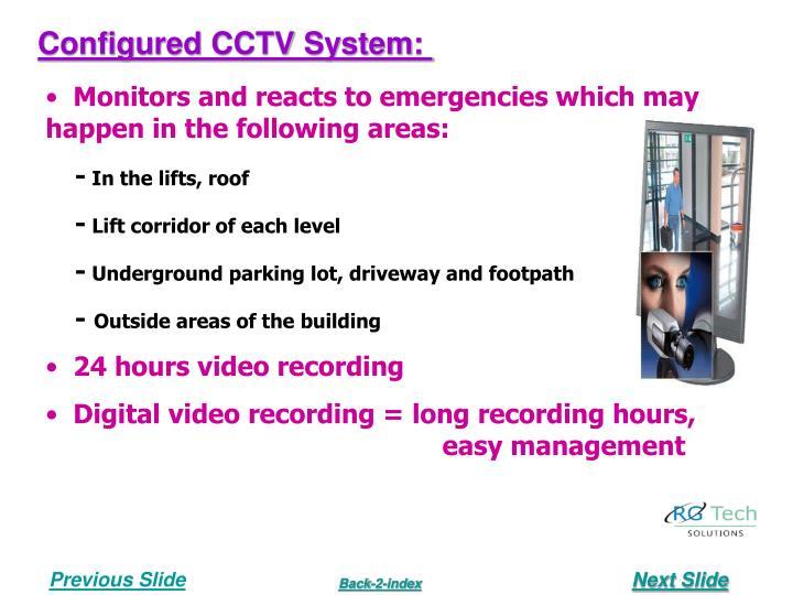 Configured CCTV System: