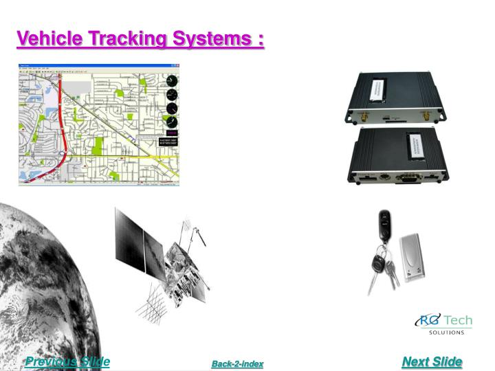 Vehicle Tracking Systems :