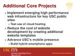 additional core projects