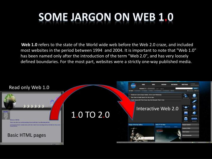 Some jargon on Web 1