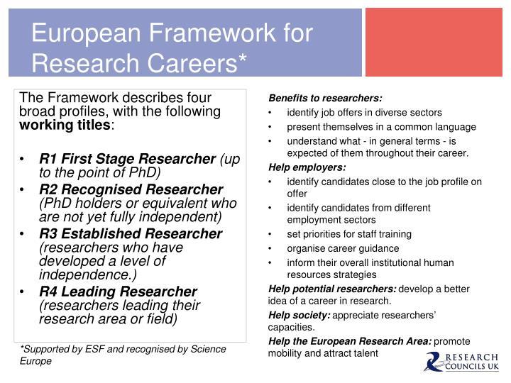 European Framework for