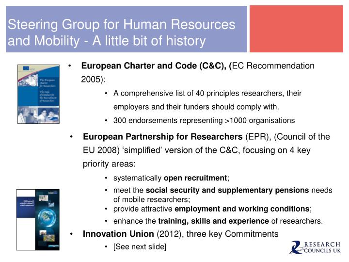 Steering Group for Human Resources and