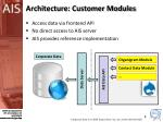 architecture customer modules