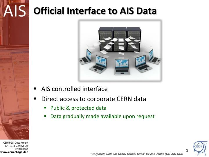 Official Interface to AIS Data