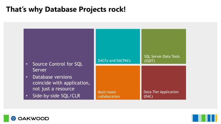 That's why Database Projects rock!