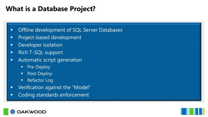 What is a Database Project?