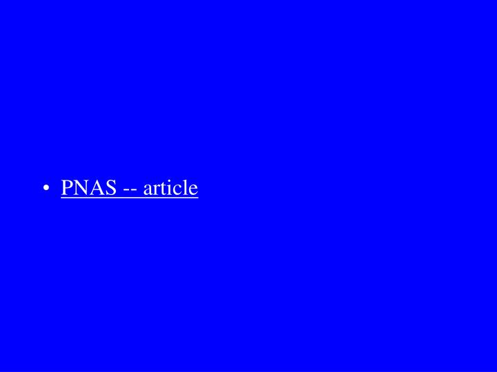 PNAS -- article