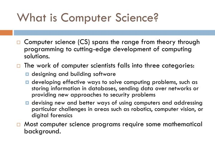 What is computer science1