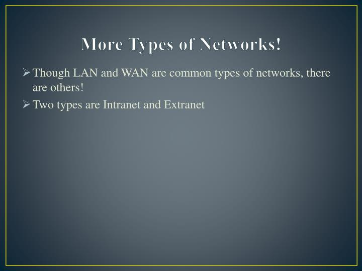 More Types of Networks!