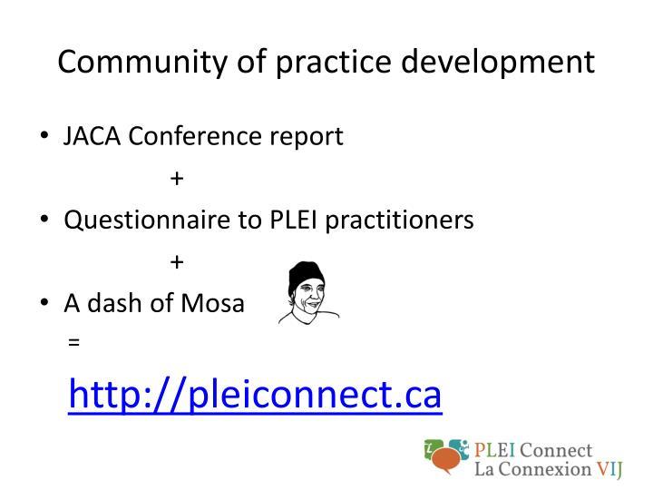 Community of practice development