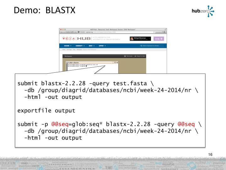 Demo:  BLASTX